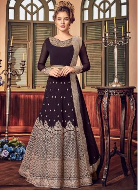Absorbing Resham Fancy Fabric Floor Length Anarkali Suit