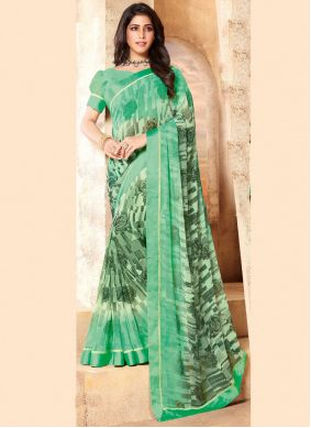 Abstract Print Faux Georgette Classic Saree