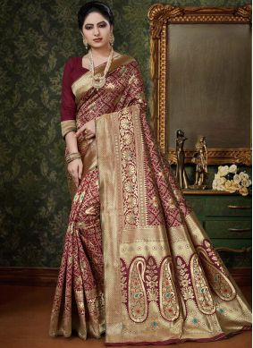 Adorning Art Silk Designer Traditional Saree