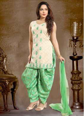 Adorning Cotton   Punjabi Suit
