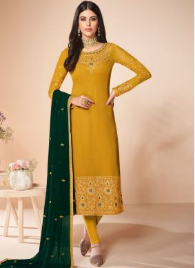 Aesthetic Embroidered Georgette Salwar Suit