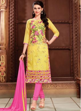 Affectionate Cotton   Churidar Suit