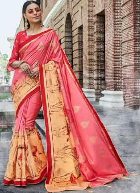 Alluring Pink Traditional Designer Saree