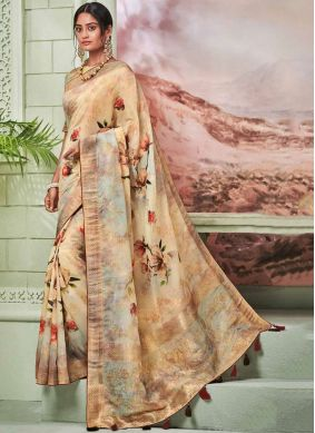Amazing Fancy Fancy Fabric Multi Colour Printed Saree