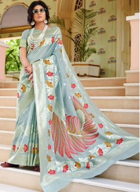 Amusing Handloom silk Ceremonial Traditional Designer Saree