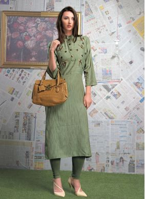 Amusing Rayon Festival Party Wear Kurti