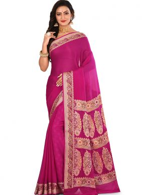 Amusing Weaving Pink Designer Traditional Saree