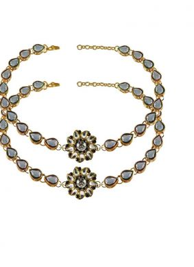 Anklet Stone Work in Gold