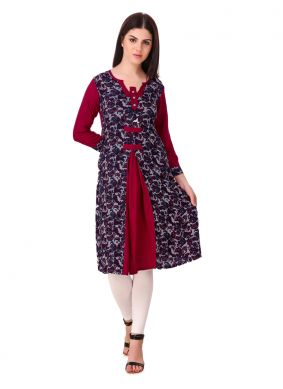 Appealing Plain Rayon Casual Kurti