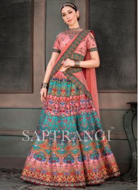 Aristocratic Multi Colour Sangeet Lehenga Choli