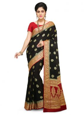 Art Banarasi Silk Weaving Designer Traditional Saree in Brown