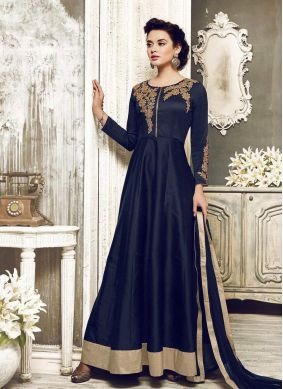 Art Dupion Silk Embroidered Salwar Kameez