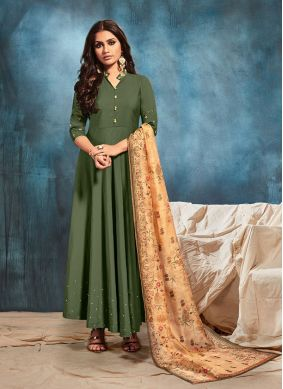 Art Silk Embroidered Party Wear Kurti