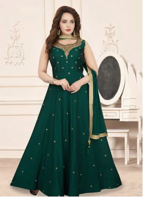 Art Silk Green Salwar Suit