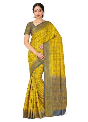 Art Silk Mehndi Designer Traditional Saree
