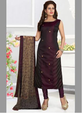 Art Silk Multi Colour Designer Salwar Suit