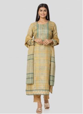 Art Silk Printed Multi Colour Salwar Kameez