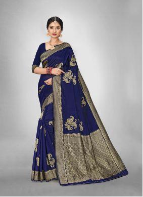Art Silk Weaving Saree in Blue