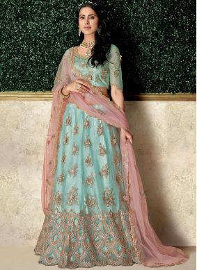 Artistic Net Embroidered Lehenga Choli