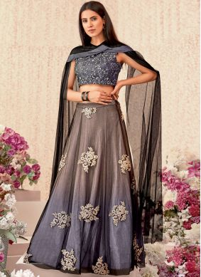 Aspiring Beige and Grey Trendy Designer Lehenga Choli