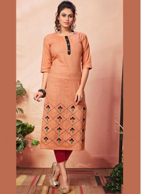 Astonishing Embroidered Cotton Party Wear Kurti