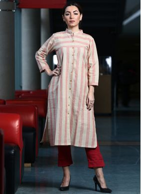 Astonishing Pink Printed Party Wear Kurti