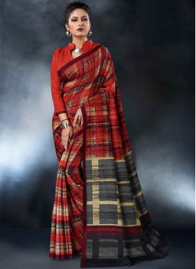 Attractive Multi Colour Printed Saree