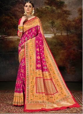 Banarasi Silk Magenta Weaving Silk Saree