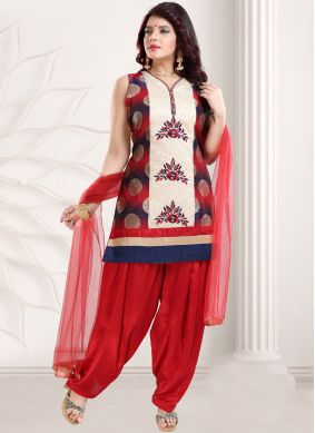 Banglori Silk Embroidered Designer Patiala Suit