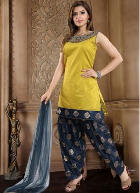 Banglori Silk Yellow Readymade Suit