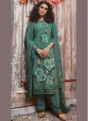 Baronial Printed Festival Pant Style Suit