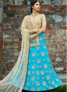 Beauteous Art Silk Blue Lehenga Choli