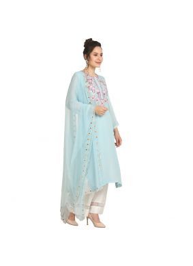 Beckoning Machine Embroidery  Party Wear Kurti