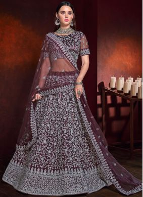 Bedazzling Net Wedding Lehenga Choli
