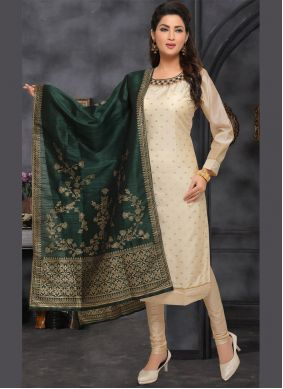 Beige Ceremonial Bollywood Salwar Kameez