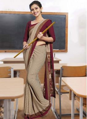 Beige Color Casual Saree