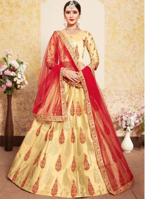 Beige Wedding Designer Lehenga Choli