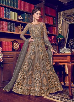 Best Embroidered Net Anarkali Salwar Kameez