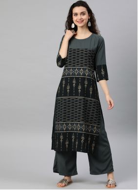 Black and Grey Party Casual Kurti