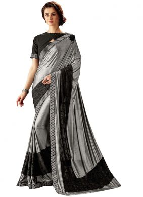 Black and Silver Trendy Saree