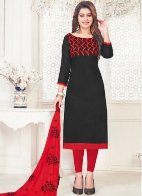 Black Churidar Suit