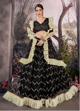 Black Color A Line Lehenga Choli