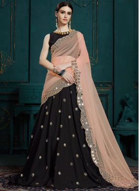 Black Color Trendy Designer Lehenga Choli