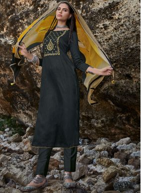 Black Designer Pakistani Suit