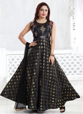 Black Engagement Readymade Gown