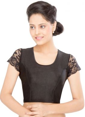 Black Party Shimmer Designer Blouse