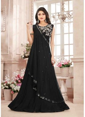 Black Reception Designer Gown