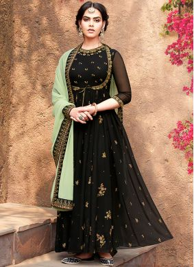 Black Reception Georgette Salwar Suit