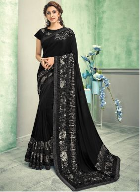 Black Wedding Contemporary Saree