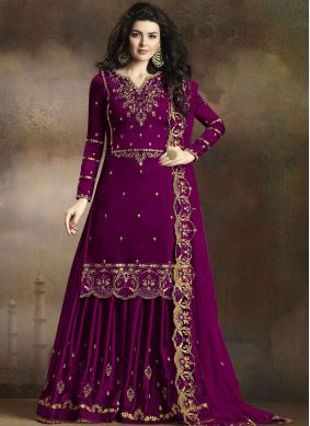 Blissful Georgette Party Palazzo Salwar Suit